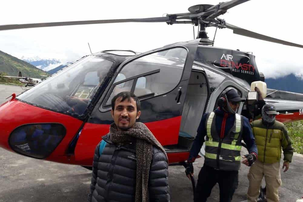 Getting Ready for Kailash Manasarovar Yatra by Helicopter