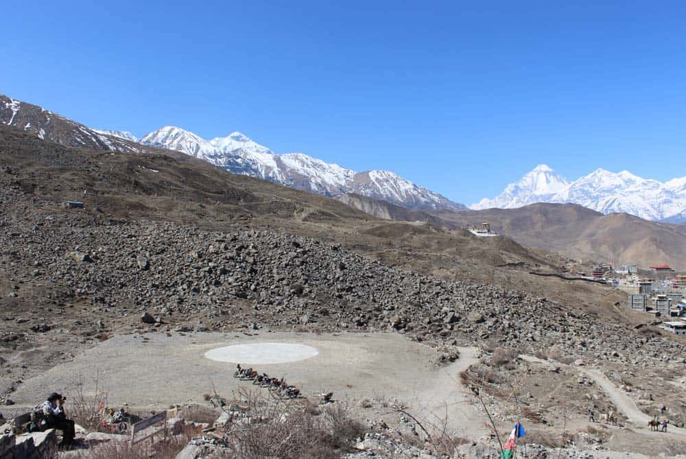 Helipad Near Muktinath Temple