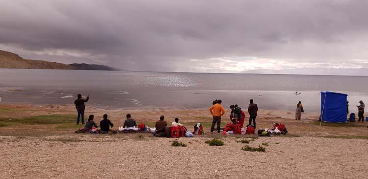 Tourists Near Lake Manasarovar